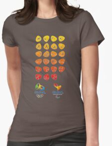 Pictogram rio 2016 Womens Fitted T-Shirt