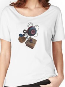 Funky Button Flower Women's Relaxed Fit T-Shirt