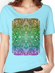Drawing Floral Zentangle Women's Relaxed Fit T-Shirt