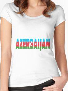 Azerbaijan Women's Fitted Scoop T-Shirt