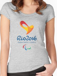Rio 2016 PARALYMPIC GAMES Women's Fitted Scoop T-Shirt