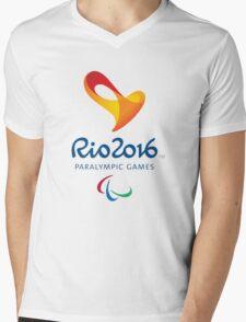 Rio 2016 PARALYMPIC GAMES Mens V-Neck T-Shirt