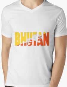 Bhutan Mens V-Neck T-Shirt