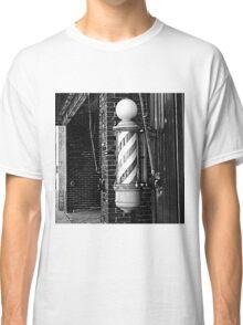 RainbowConfetti Vintage Barber Pole Classic T-Shirt