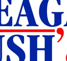 Reagan Bush 84 Sticker
