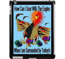 """""""SOARING WITH EAGLES"""" Abstract Comical Print iPad Case/Skin"""