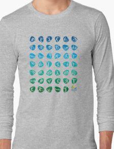Pictogram rio de janiero 2016  Long Sleeve T-Shirt