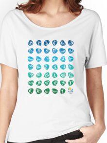 Pictogram rio de janiero 2016  Women's Relaxed Fit T-Shirt