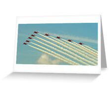Red arrows 2014 Greeting Card