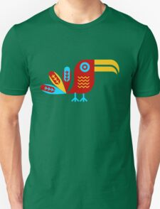 Toucan, bird, birdy, colorful, vector, shapes Unisex T-Shirt