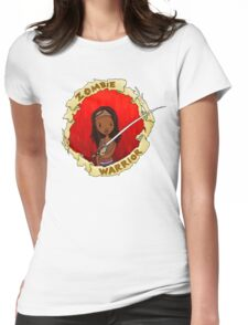 ZOMBIE WARRIOR Womens Fitted T-Shirt