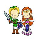 Link and Zelda,  by Bantambb