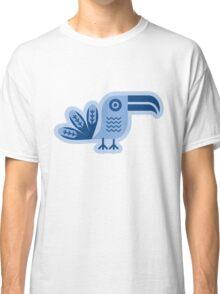 Toucan, bird, birdy, blue, vector, shapes Classic T-Shirt