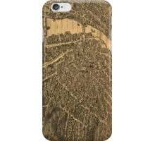 Vintage Pictorial Map of Elgin Illinois (1880) iPhone Case/Skin