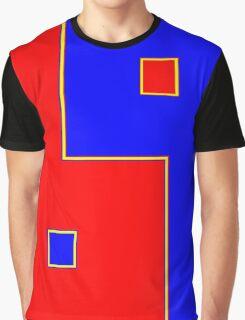 Ying Yang Bleu et Rouge Graphic T-Shirt