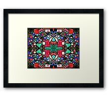 Tate - Created by a Genius (Square/Sym/Red) Framed Print