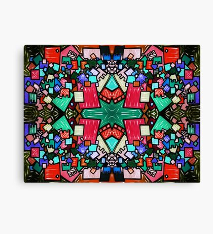 Tate - Created by a Genius (Square/Sym/Red) Canvas Print