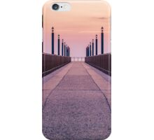 A sunrise on the pier iPhone Case/Skin