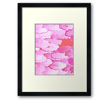 Japanese Clouds, Dawn, Pink and Coral   Framed Print