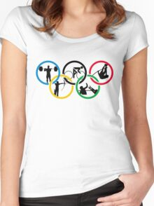 Olimpics rio 2016 games Women's Fitted Scoop T-Shirt
