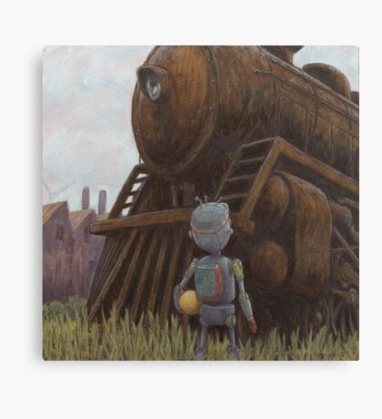 robot train Canvas Print