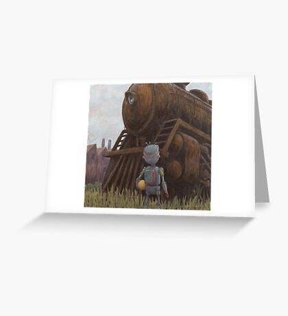 robot train Greeting Card