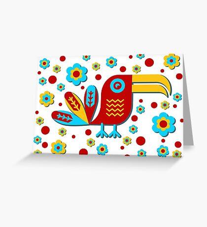 Toucan, bird, birdy, colorful Greeting Card