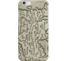 Vintage Map of England (1603) iPhone Case/Skin