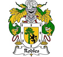 Robles Coat of Arms/Family Crest Photographic Print