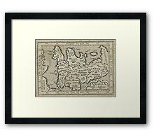 Vintage Map of England (1603) Framed Print
