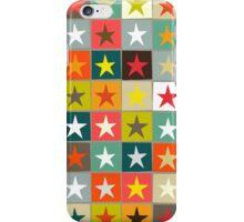 retro boxed stars iPhone Case/Skin