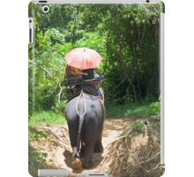 Elephant trekking through jungle iPad Case/Skin