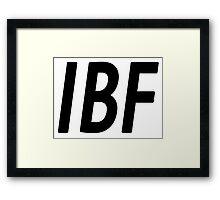 IBF IS FBI BACKsWORDS Framed Print