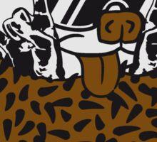 hard rock heavy metal hand zeichen symbol hörner teufel satan musik party konzert lustig baby comic cartoon süßer kleiner niedlicher igel kugel  Sticker
