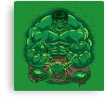 Hulk and Yoda Canvas Print