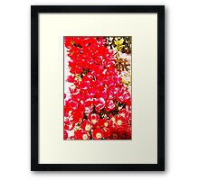 Red my color, my blood. Framed Print