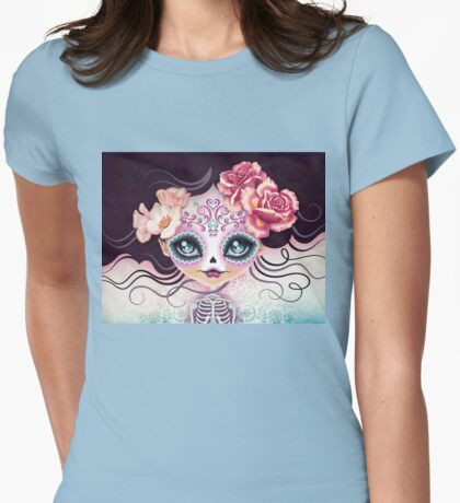 Camila Huesitos - Sugar Skull Womens Fitted T-Shirt
