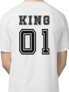 Vintage College Football Jersey Joking Design - King   Classic T-Shirt