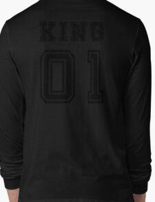 Vintage College Football Jersey Joking Design - King   Long Sleeve T-Shirt
