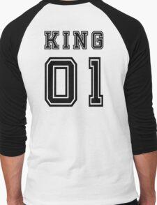 Vintage College Football Jersey Joking Design - King   Men's Baseball ¾ T-Shirt