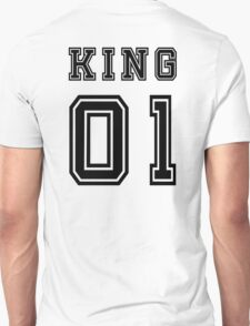 Vintage College Football Jersey Joking Design - King   Unisex T-Shirt