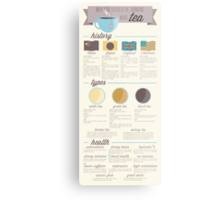 Tea is the Best Infographic Metal Print