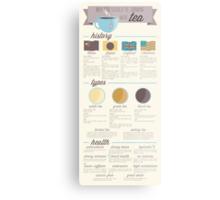 Tea is the Best Infographic Metal Print