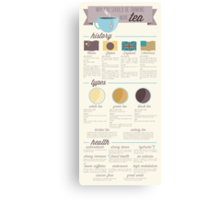 Tea is the Best Infographic Canvas Print