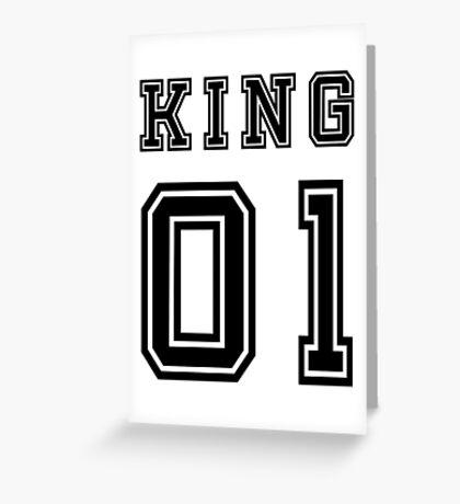 Vintage College Football Jersey Joking Design - King   Greeting Card