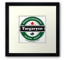 Targaryen Brewing Co. Framed Print