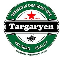 Targaryen Brewing Co. Photographic Print