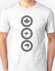 Australia Canada New Zealand (Low Vis) Unisex T-Shirt