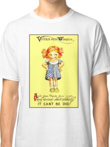 """WOMENS SUFFRAGE"" Vintage (1930s) Advertising Print Classic T-Shirt"