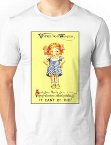 """WOMENS SUFFRAGE"" Vintage (1930s) Advertising Print Unisex T-Shirt"